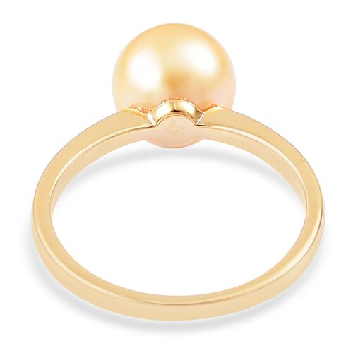 ILIANA 18K Yellow Gold AAA South Sea Golden Pearl (Rnd 10.5-11mm) Ring