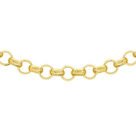 Hatton Garden Close Out 9K Yellow Gold Belcher Necklace (Size 24), Gold Wt. 8.16 Gms