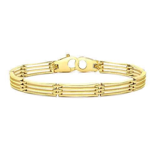 9K Yellow Gold Bar Link Bracelet (Size 7), Gold wt 12.60 Gms.