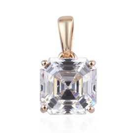 J Francis Made with SWAROVSKI ZIRCONIA Solitaire Pendant in 9K Gold
