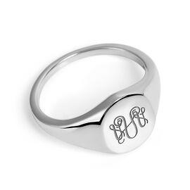 Personalised Monogram Ring in Silver
