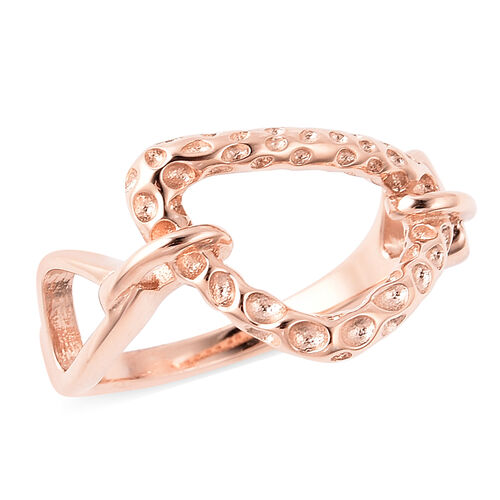 RACHEL GALLEY - Rose Gold Overlay Sterling Silver Latticework Ring