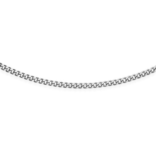 RHAPSODY Diamond Cut Curb Chain in 950 Platinum 2.60 Grams 18 Inch
