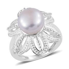 Designer Inspired- AA Freshwater Pearl Flower Ring in Sterling Silver