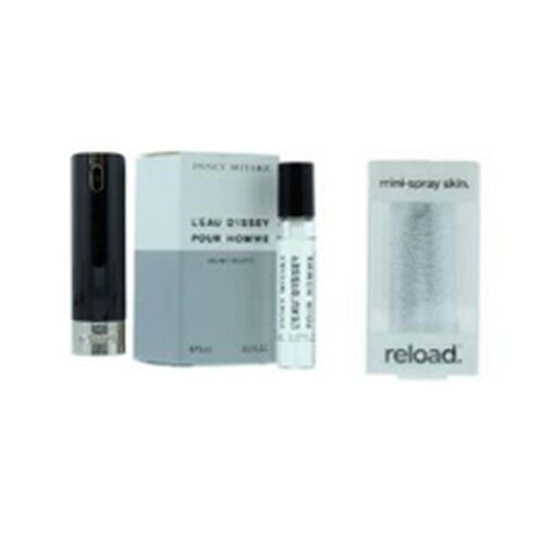 Reload Mini Perfume Spray Black (Incl. Issey Miyake DIssey Homme - 5ml & Embossed Skin)