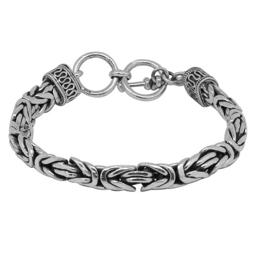 Royal Bali Collection Sterling Silver Borobudur Bracelet (Size 8), Silver wt. 51.03 Gms.