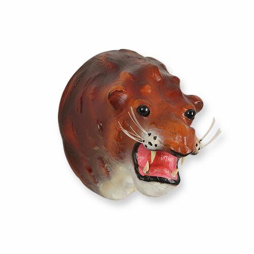 Safari Collection - Handmade Lion Wall Hanging (Size 24x18x22 Cm) - Brown Colour