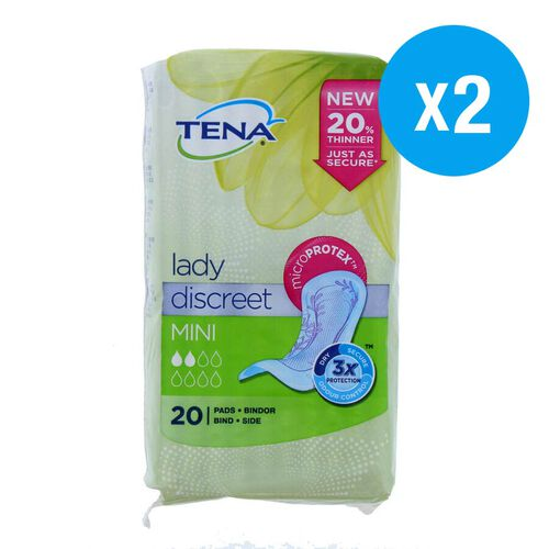 Tena: Lady Discreet Minis 20s (Set of 2)