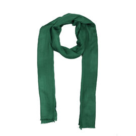100% Cashmere Wool Dark Green Colour Scarf (Size 200x70 Cm)