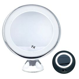 360 Degree Rotating LED Compact Mirror (Size 18.4x9.8 Cm) (AAA Battery not included) - 7xMagnificati