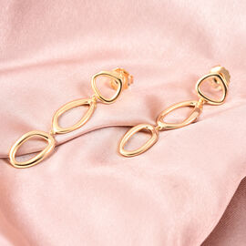 LucyQ Fluid Design Dangle Earrings in Yellow Gold Plated Sterling Silver