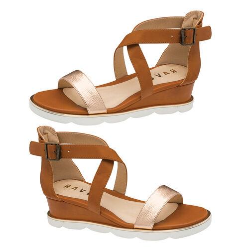 Ravel Junee Wedge Sandals (Size 4) - Tan