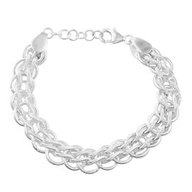 Link Chain Bracelet in Sterling Silver 25.61 Grams 7 Inch