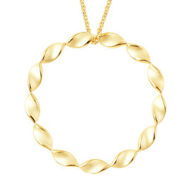 RACHEL GALLEY Yellow Gold Overlay Sterling Silver Sandblast Texture Twist Circle Design Pendant with
