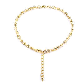Royal Bali Rope Chain Bracelet in 9K Gold 3.09 Grams 7 With 1 Inch Extender