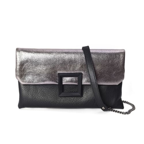 100% Genuine Leather Bag with Detachable Stylish Shoulder Strap and External Zipper Pocket (Size 28.
