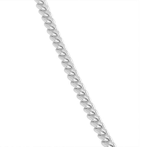 RHAPSODY 950 Platinum Diamond Cut Curb Chain (Size 18), Platinum wt 3.45 Gms