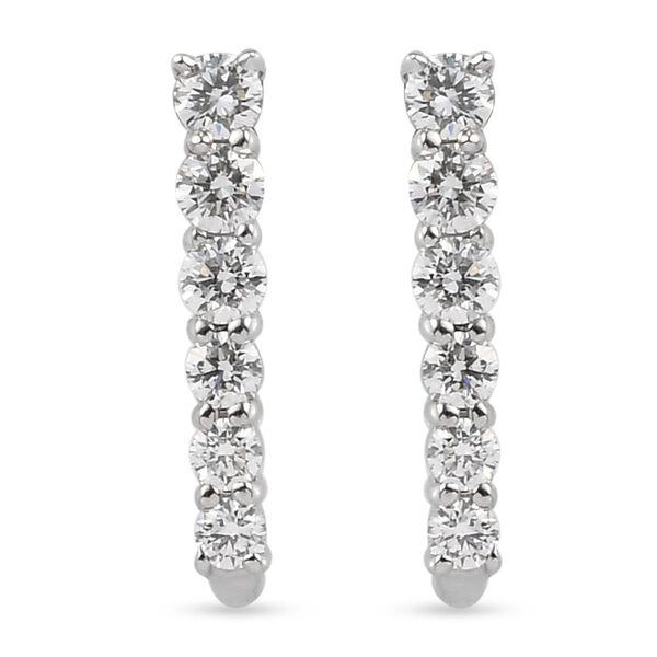RHAPSODY 950 Platinum IGI Certified Diamond (Rnd) (VS/E-F) Earrings (with Screw Back) 0.500 Ct.
