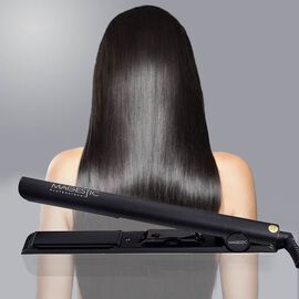 Magestic: Nano Hair Straightener (Size 27x3cm) - Silver/Black