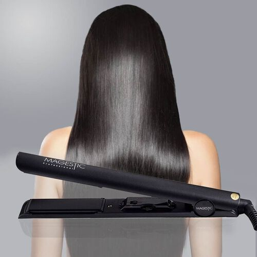 Magestic: Nano Hair Straightener (Size 27x3cm) - Silver/Black