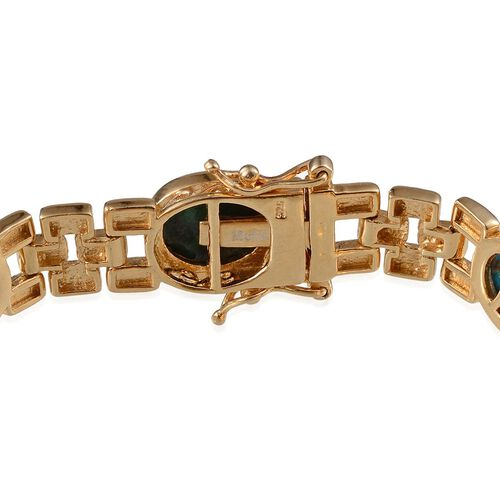 Table Mountain Shadowkite (Ovl) Bracelet in 14K Gold Overlay Sterling Silver (Size 7.5) 26.500 Ct.