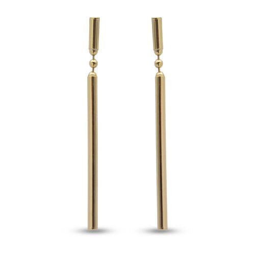 9K Yellow Gold  Earring (With Push Back),  Gold Wt. 1.00 Gms