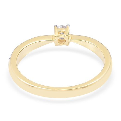 ILIANA 0.25 Carat Diamond IGI Certified (SI/G-H) Engagement Ring in 18K Gold