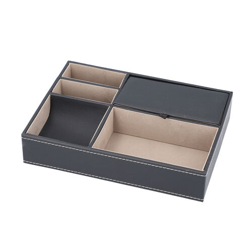 New Arrival- Mens Accessories/Jewellery Organizer (Size 25.6x18.6x5cm) - Black