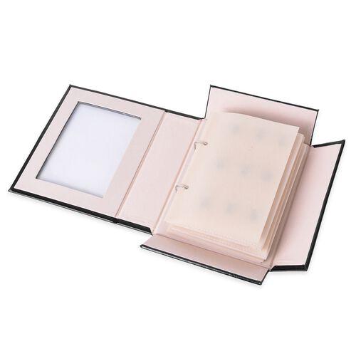 TJC- Black Colour 4-Page Jewellery Book (Size 22x18x6.3 Cm)