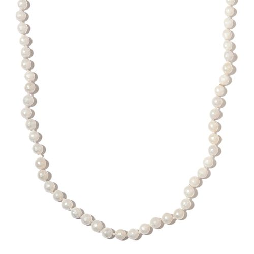 White Shell Faceted Pearl Necklace (Size 30)
