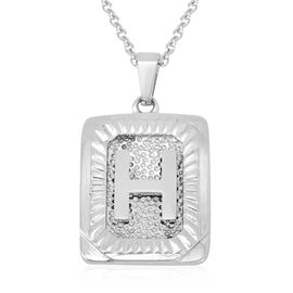 Initial H Pendant with Chain (Size 22) in Stainless Steel