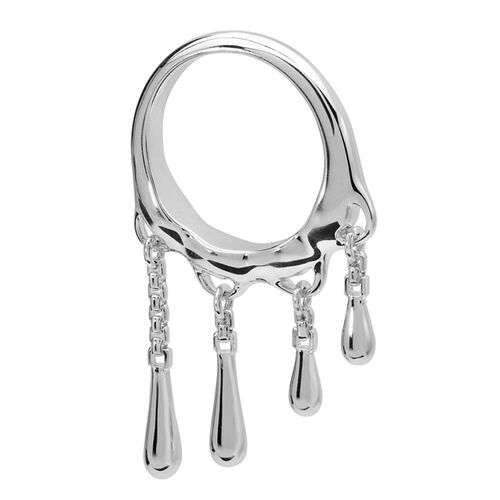 LucyQ Drip Apart Ring in Sterling Silver 6.50 Gms.