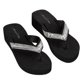 Deluxe Wedge Flip Flop Black