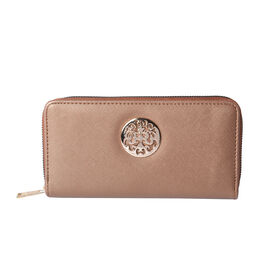 Shimmer Bronze RFID Long Clutch Wallet