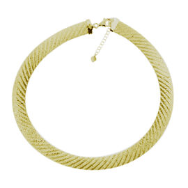 GP -  Yellow Gold Overlay Sterling Silver Omega Necklace (Size 18 with 2 inch Extender), Silver wt. 32.96 Gms.