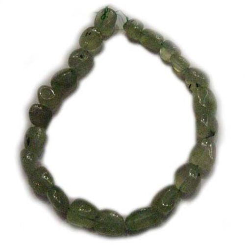 Limited Edition Tumble Shaped Prehnite Gemstone Bead Necklace  650.00 Carat Wt.