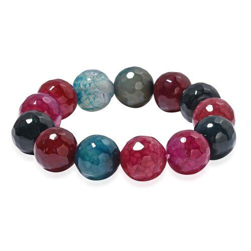 Multi Agate (Rnd) Beads Bracelet (Size 6.5) 351.000 Ct