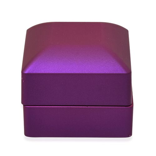 Solid Purple Colour Led Light Ring Box (Size 6.3x6x5 Cm)