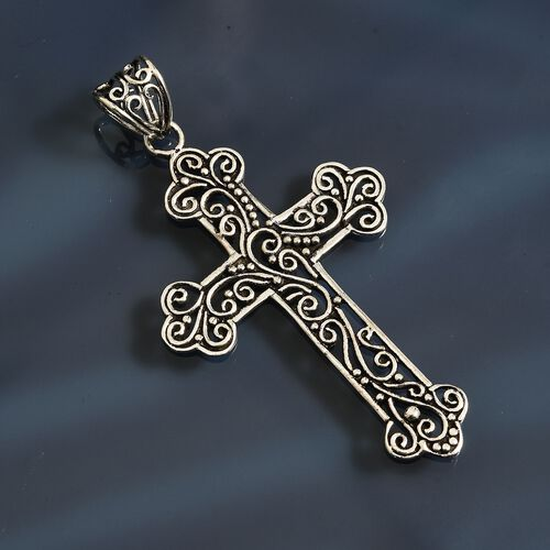 One Time Deal- Sterling Silver Cross Pendant.Silver Wt 4.82 Gms