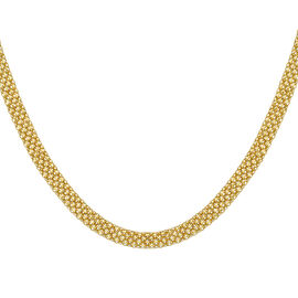 Italian Made - 9K Yellow Gold Bismark Necklace (Size 18), Gold wt 10.00 Gms.