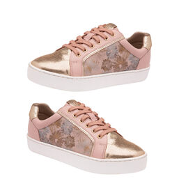 Lotus Saima Floral Trainers (Size 3) - Pink