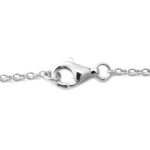 ELANZA Simulated Diamond (Rnd) Bracelet (Size 7) in Rhodium Overlay Sterling Silver