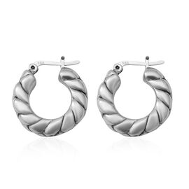 Thai Sterling Silver Hoop Earrings (with Clasp)