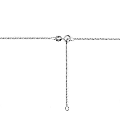 ILIANA 18K White Gold Mini Spiga Adjustable Chain (Size 18)