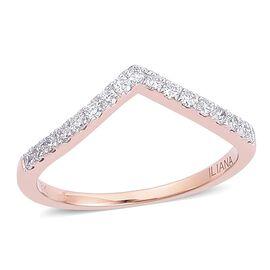 ILIANA 18K Rose Gold IGI Certified Diamond (Rnd) (SI G-H) Wishbone Ring 0.250 Ct.