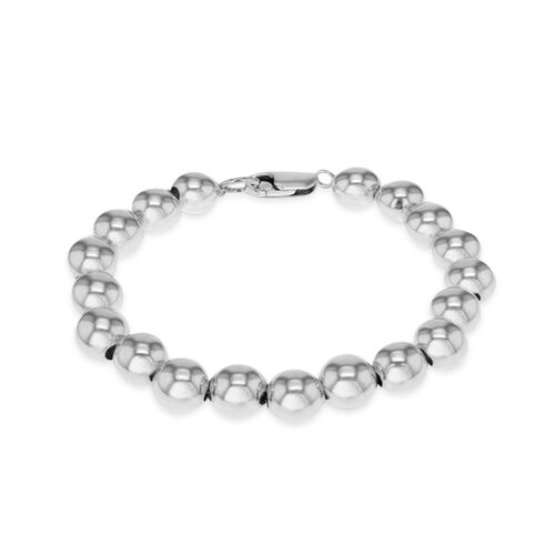 One Time Deal- Designer Inspired Sterling Silver Ball Bracelet (Size 7.5), Silver wt 15.40 Gms.