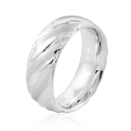 Premium Collection Royal Bali Collection 9K White Gold Band Ring