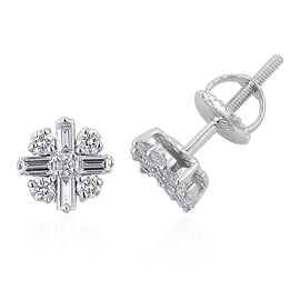 One Off ILIANA 18K White Gold 0.50 Carat Diamond Stud Earrings SI/G-H IGI Certified