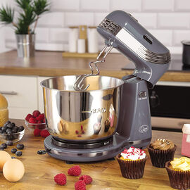 Compact Stand Mixer - 6 Speed - Grey - 250 Watts