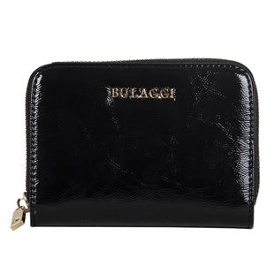 Bulaggi Collection - Acacia Small Wallet with Zipper Closure (Size 12x09x02 cm) - Black
